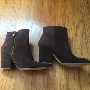 kate spade Shoes - Kate Spade Rickee suede block heel ankle boot 9